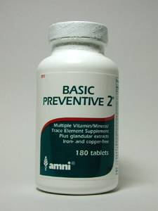 Basic Preventive 2 w/Glands, No CU/FE 180 tabs