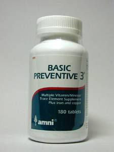 Basic Preventive 3 w/CU/FE, No Glands 180 tabs