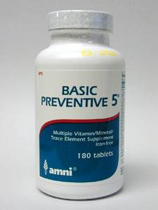 Product Image 	Basic Preventive 5® Iron-Free 270 vcaps
