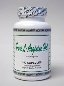 Pure L-Arginine HCl 500 mg 100 caps